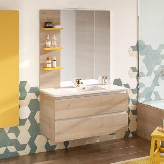 Meubles de salles de bain à tiroirs - Chêne Vert