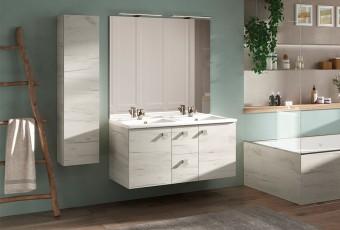 Meuble de salle de bain INFINITI portes - Chêne Vert