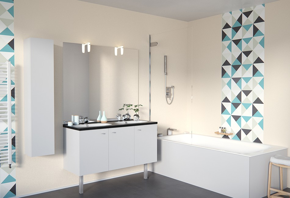 meuble salle de bain portes
